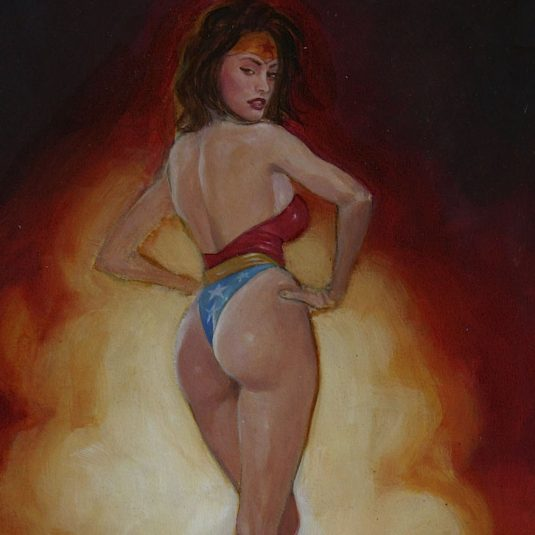 Megan Fox: Wonder Woman amazonian amazing assets ADULT EROTIC COMIC ART MARK BEACHUM