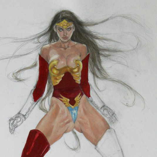 wonder woman ultra sexy amazon ADULT EROTIC COMIC ART MARK BEACHUM