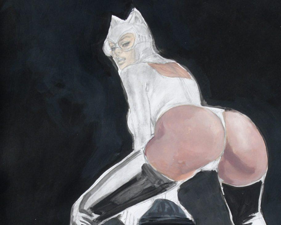 catwoman fetish marking her territory sexy superheroine mark beachum supergurlz.net sexy ass latex rubber fetish art
