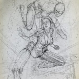 BLACK CAT vs SPIDER-MAN: AGAINST ALL ODDS mark beachum sexy bodies in action artwork painting