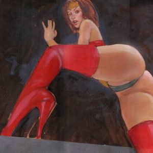 wonder woman on the edge sexy in your face erotic art mark beachum supergurlz