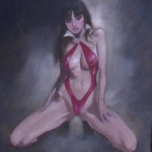 VAMPIRELLA: THE CARNAL PIN-UP sexy supergurlz original erotic art mark beachum vampire sex obscure