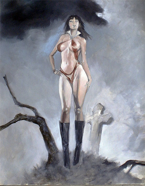 vampirella fatal attraction original art mark beachum sexy vampire gothic princess