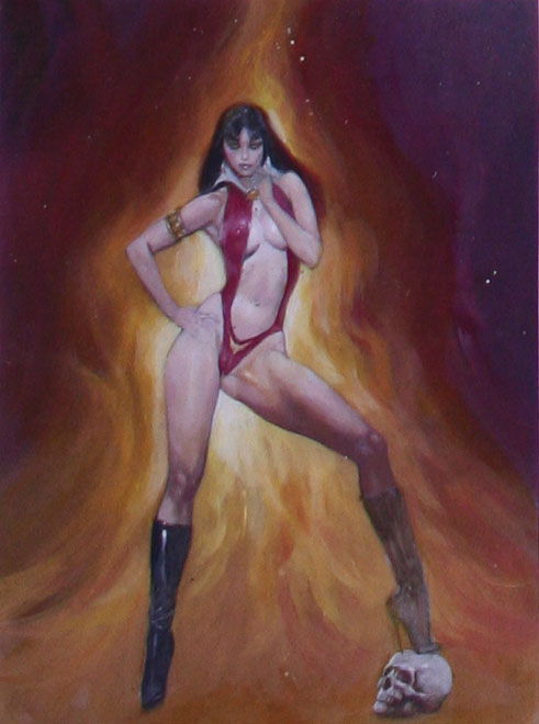 vampirella: erotic predator mark beachum erotic art dangerous adult fantasy fiction illustration supergurlz