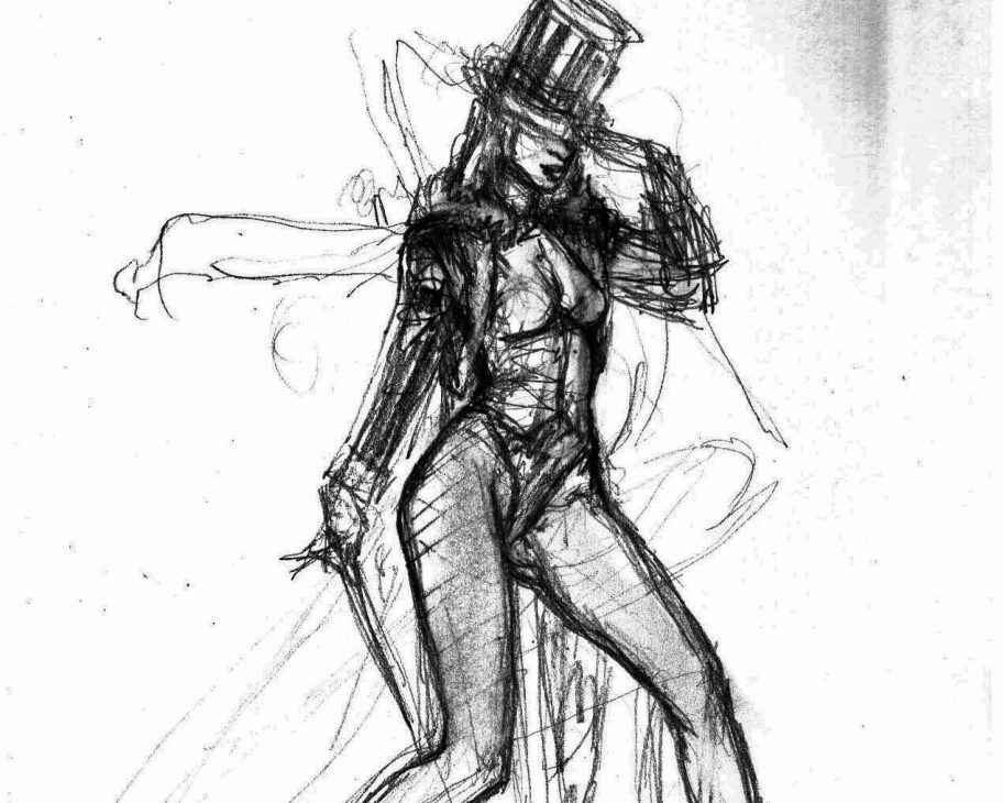 zatanna burlesque sketch mark beachum original supergurlz