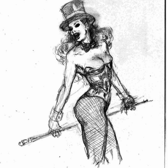zatanna burlesque sketch v2 zatanna zatara mark beachum original art supergurlz