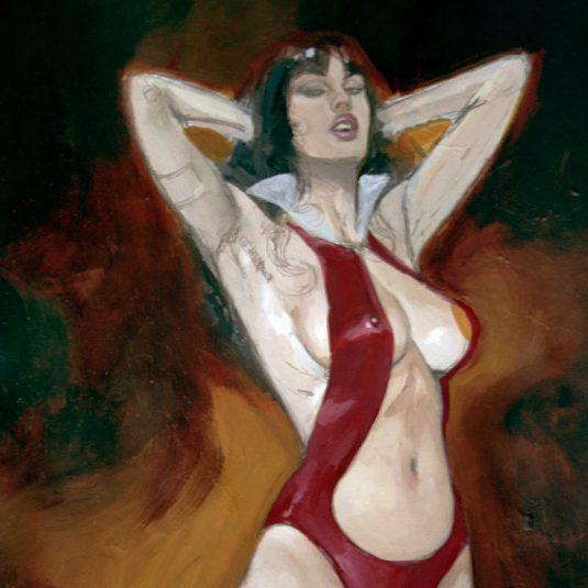 vampirella original art tribute to jose gonzalez by mark beachum sexy voluptuous vampire babe art