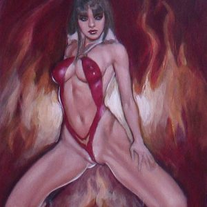 Vampirella: On Fire mark beachum sexy superheroine art supergurlz.net supergurlz