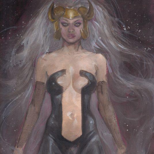 Black Enchantress Cosmic Trance EROTIC ART ADULT COMIC ILLUSTRATION MARK BEACHUM SUPERGURLZ.NET