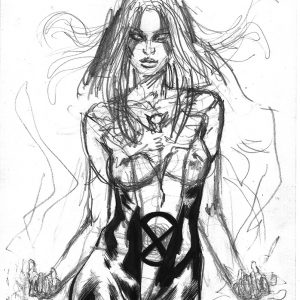 dark phoenix jean grey ink art sexy mark beachum ink wash painting sexy x-men superhero