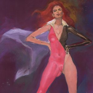 Looker: Striking a Pose sexy superheroine art Mark Beachum supergurlz.net