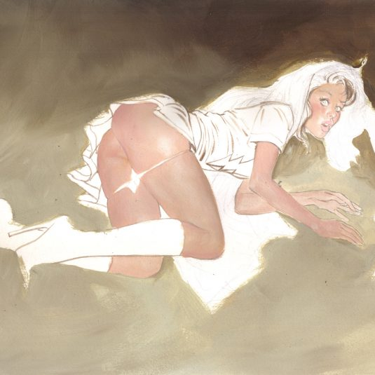 SHAZAM! MARY MARVEL UPSKIRT TROUBLE V2 SHAZAM! MARY MARVEL CHEESECAKE PIN-UP MARK BEACHUM EROTIC COMIC ART ILLUSTRATION ORIGINAL ART SUPERGURLZ.NET