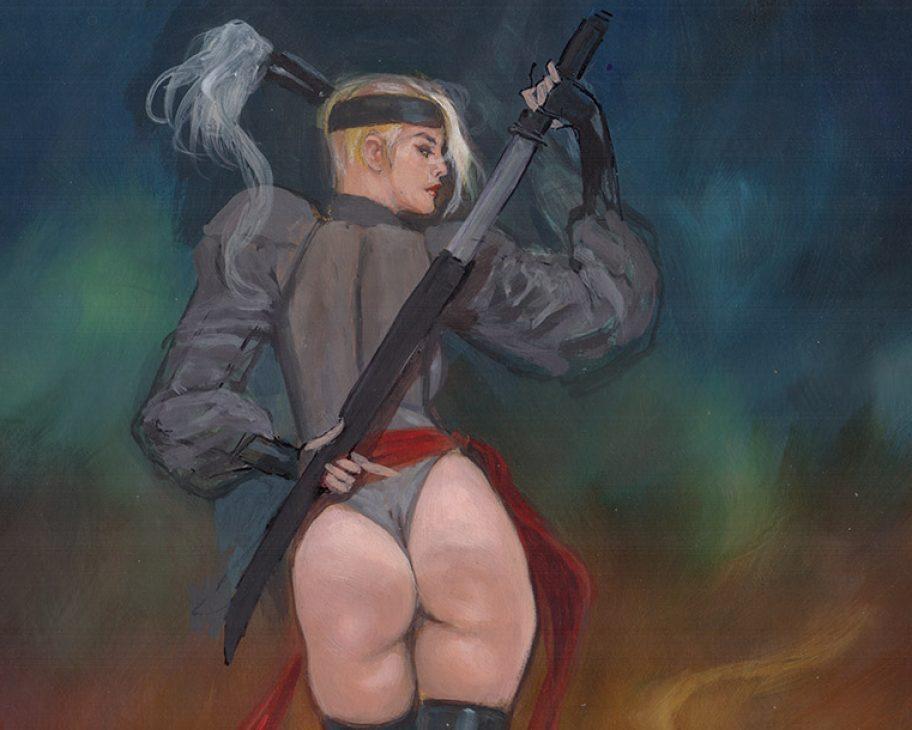 SAMUREE: WATCH MY BACK ADULT EROTIC COMIC ART MARK BEACHUM SUPERGURLZ.NET