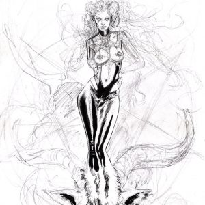 Satana: Baphomet's Devilish Daughter Ink Art supergurlz mark beachum sexy art comics