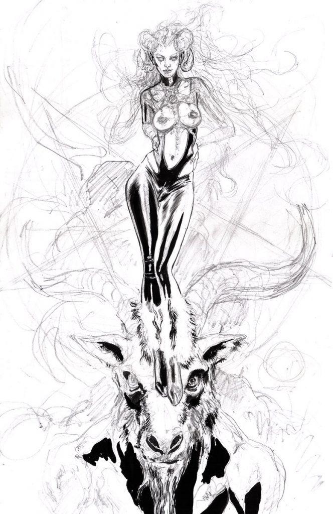 Satana: Baphomet's Devilish Daughter Ink Art supergurlz mark beachum sexy art comics