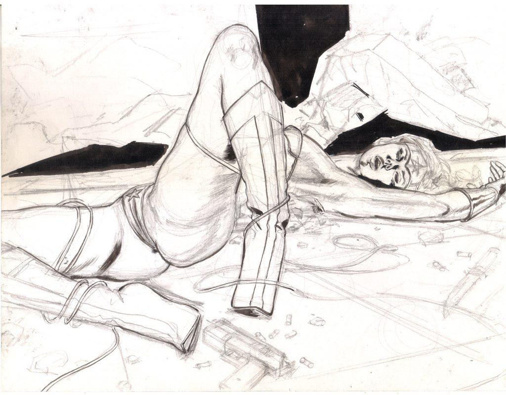 WONDER WOMAN DEFEATED V1 ADULT EROTIC COMIC ART MARK BEACHUM INK ART