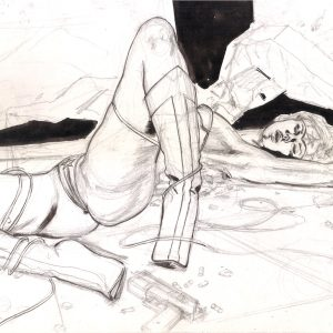 WONDER WOMAN DEFEATED V1 ADULT EROTIC COMIC ART MARK BEACHUM INK ART