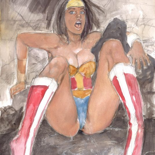 WONDER WOMAN: DANGEROUS WHEN WET ADULT EROTIC COMIC ART MARK BEACHUM SEXY WONDERWOMAN FETISH ADRIANA LIMA