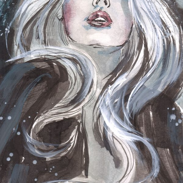 lady death original color art by mark beachum