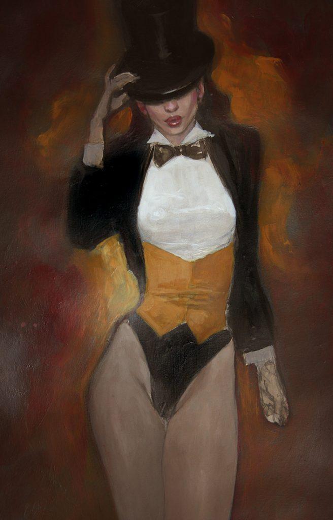 zatana original art by mark beachum
