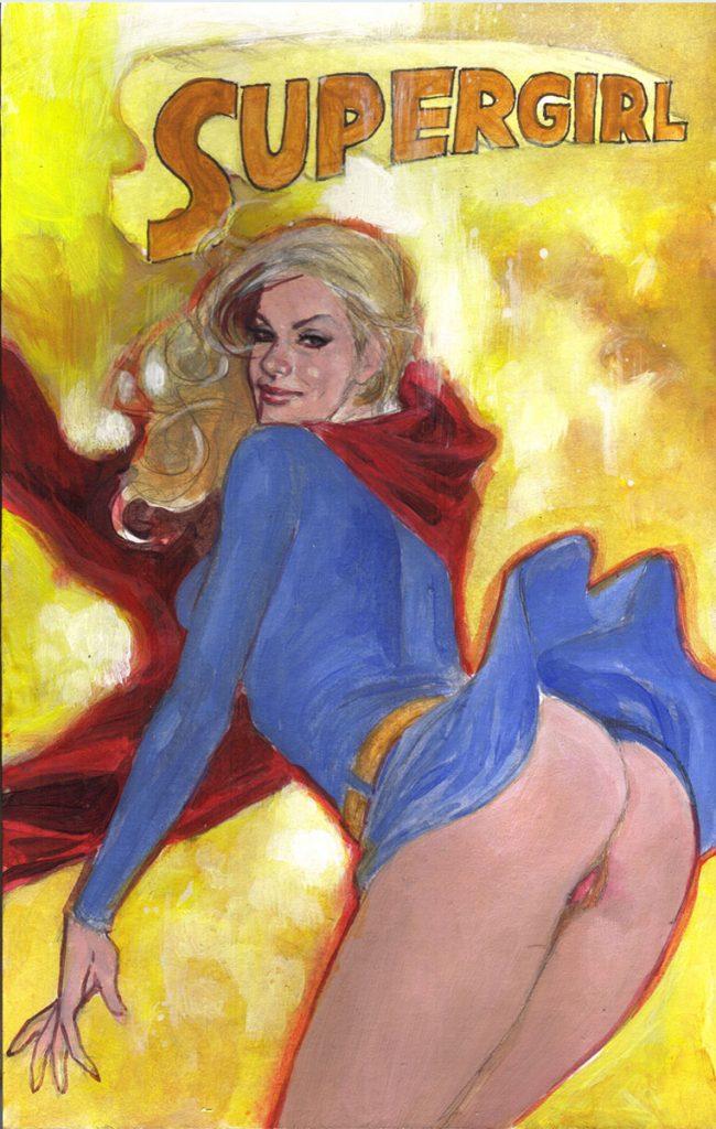 Playful Little Supergirl...
