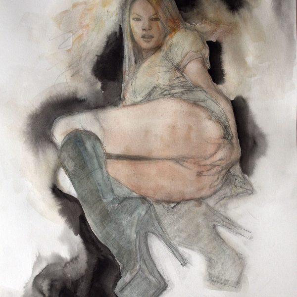 alice in wonderland badgirl original art