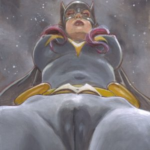 Batgirl Latex Giantess sexy art Mark Beachum supergurlz.net