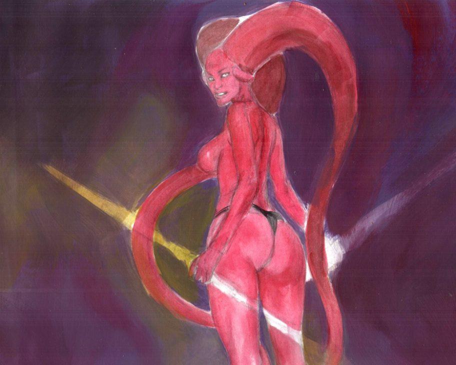 Darth Talon in Training EROTIC ADULT COMIC ART MARK BEACHUM SUPERGURLZ.NET