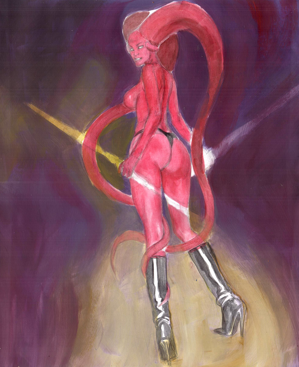 Darth Talon in Training EROTIC ADULT COMIC ART MARK BEACHUM SUPERGURLZ.NET