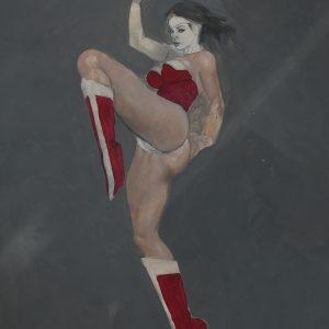Badass Wonder Woman erotic adult comic superheroine art supergurlz.net mark beachum