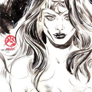 Wonder Woman Ink Portrait
