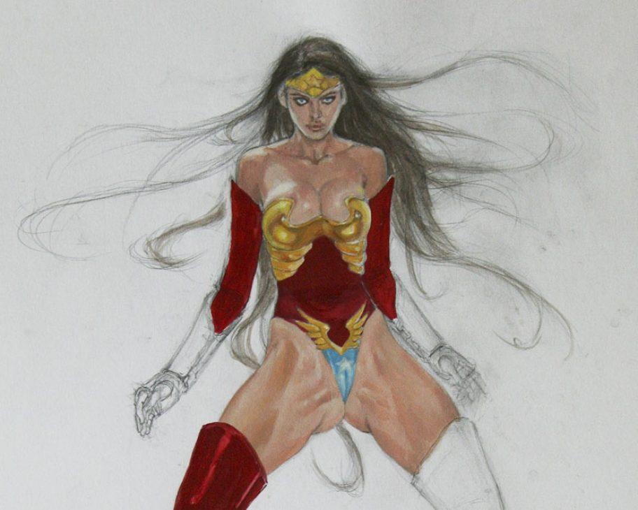 wonder woman ultra sexy amazon ADULT EROTIC COMIC ART MARK BEACHUM