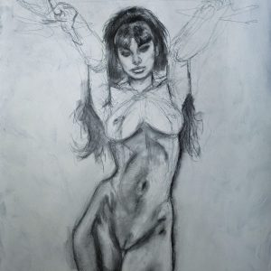 VAMPIRELLA of DRACULON #5 Recreation Pencil Study 2