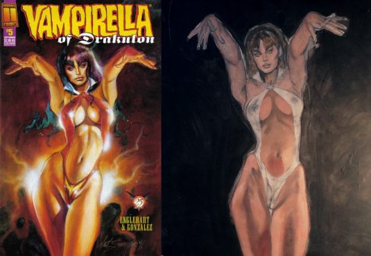 VAMPIRELLA of DRACULON #5 Recreation 2