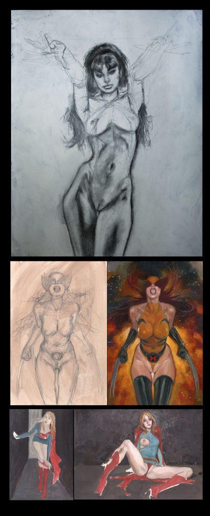 VAMPIRELLA of DRACULON #5 Recreation Pencil Study