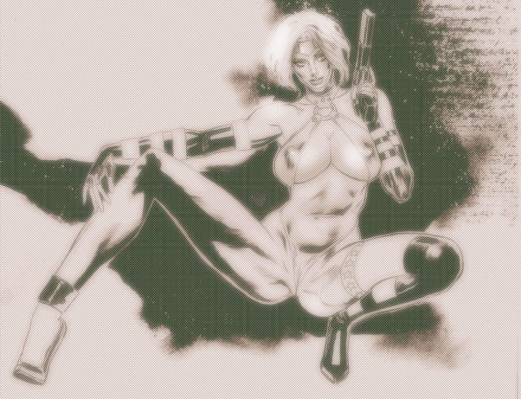 sharon mcCain vs porkum layouts XXXsuperheroines hentai adult illustration