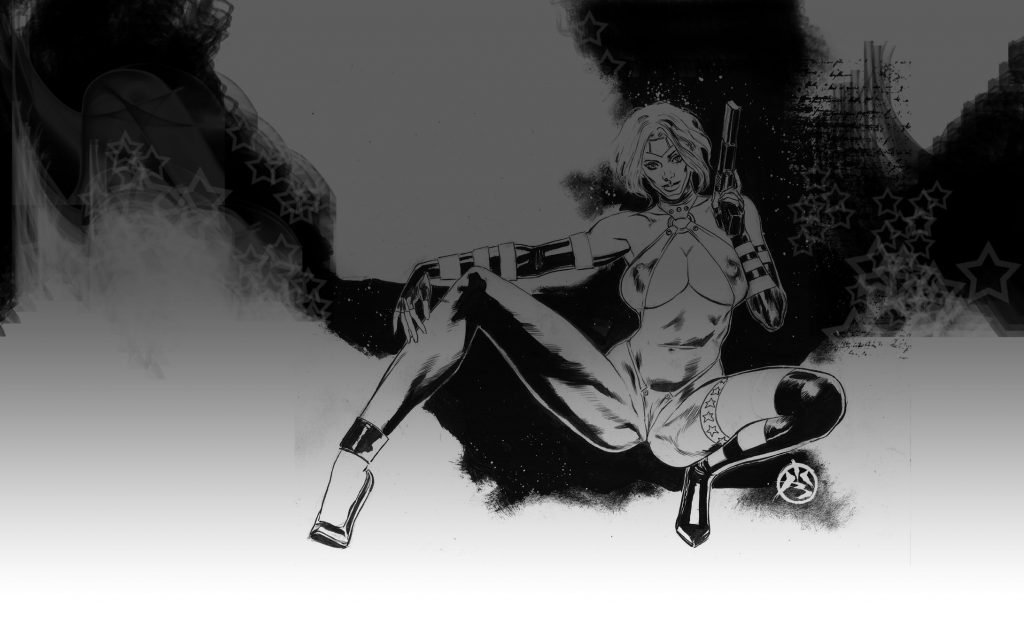 sharon mccain actiongirl gone wild series of pin ups for the cats over @ xxxsuperheroines moar 2 cum