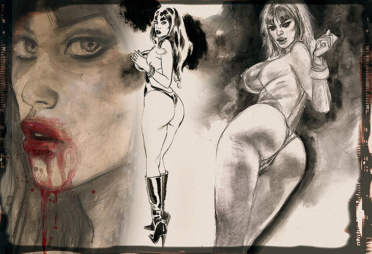 embellished VAMPIRELLA Print on ebay 1