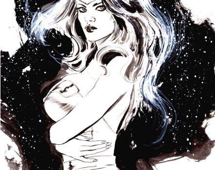 Wonder Woman original ink art PENSIVE