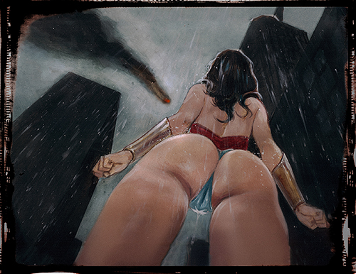 Wonder Woman Hentai: Hand Embellished Print Set 2