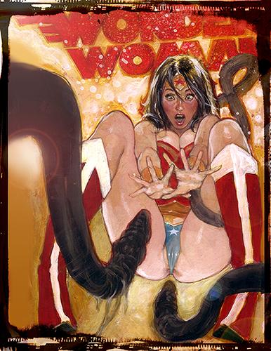 Wonder Woman Hentai: Hand Embellished Print Set 3