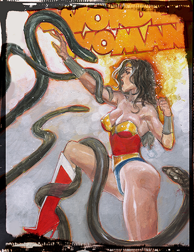 Wonder Woman Hentai: Hand Embellished Print Set 4