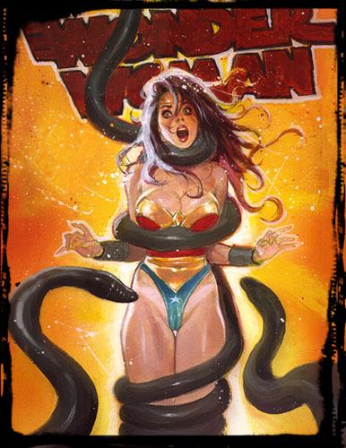 Wonder Woman Hentai: Hand Embellished Print Set 8