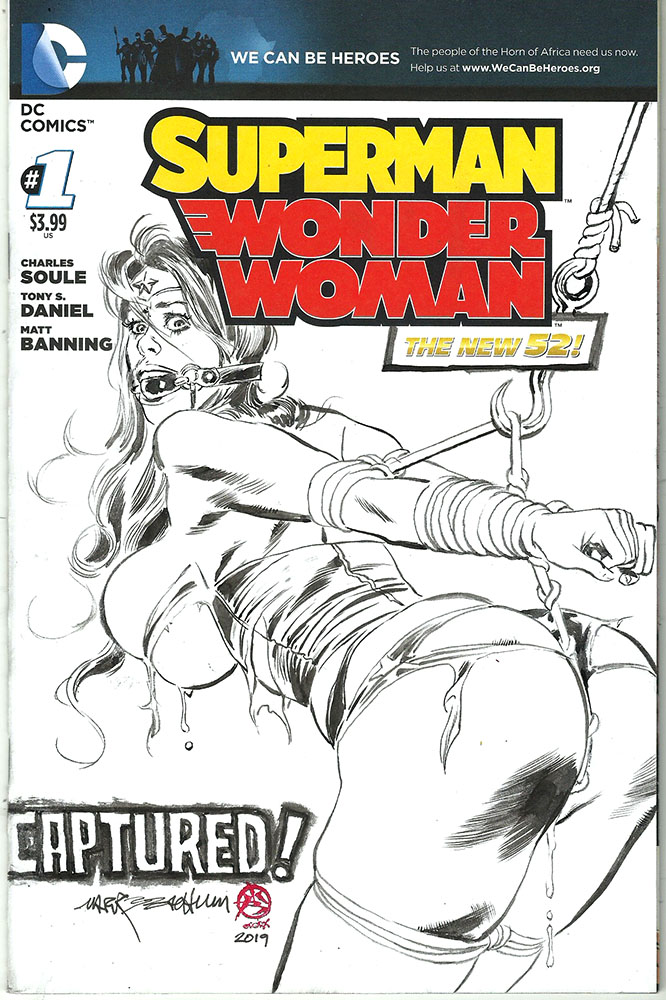 SUPERMAN - Wonder Woman BLANK SKETCH COVER No 1: CAPTURED 1