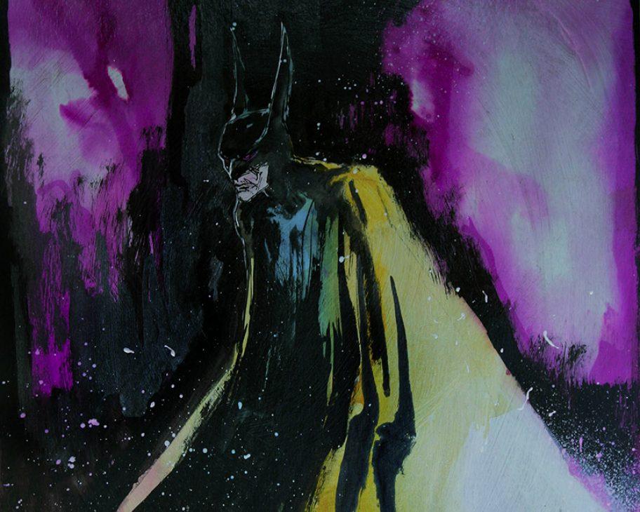 batman original art by mark beachum