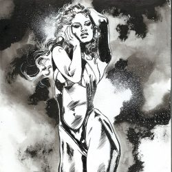 VAMPIRELLA EBONY DIVA ink cover art 2