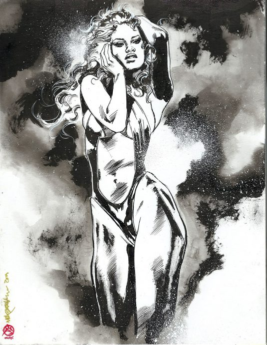 VAMPIRELLA EBONY DIVA ink cover art 1