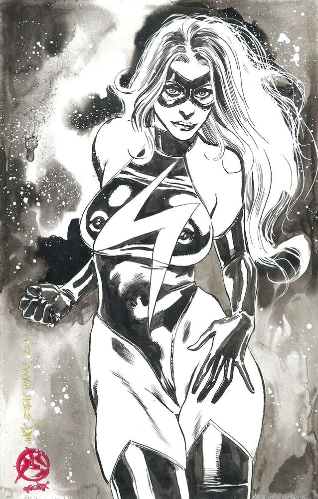 Vampirella poster Ms Marvel Original art on Ebay 4