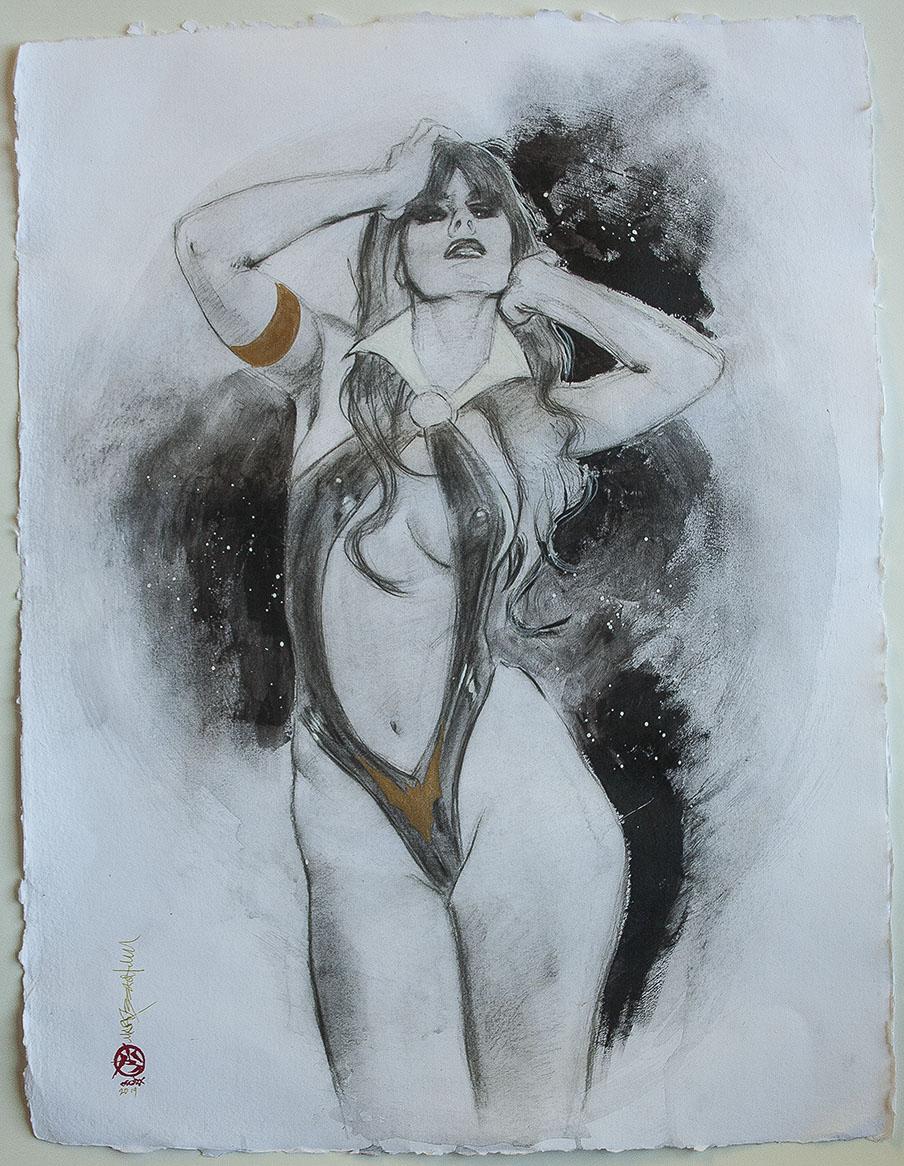 Vampirella poster Ms Marvel Original art on Ebay 3