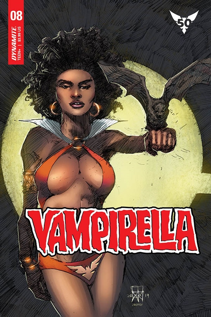 Mark Beachum turns up the heat with sexy alternate VAMPIRELLA cover for feb 2020 Black History Month 3